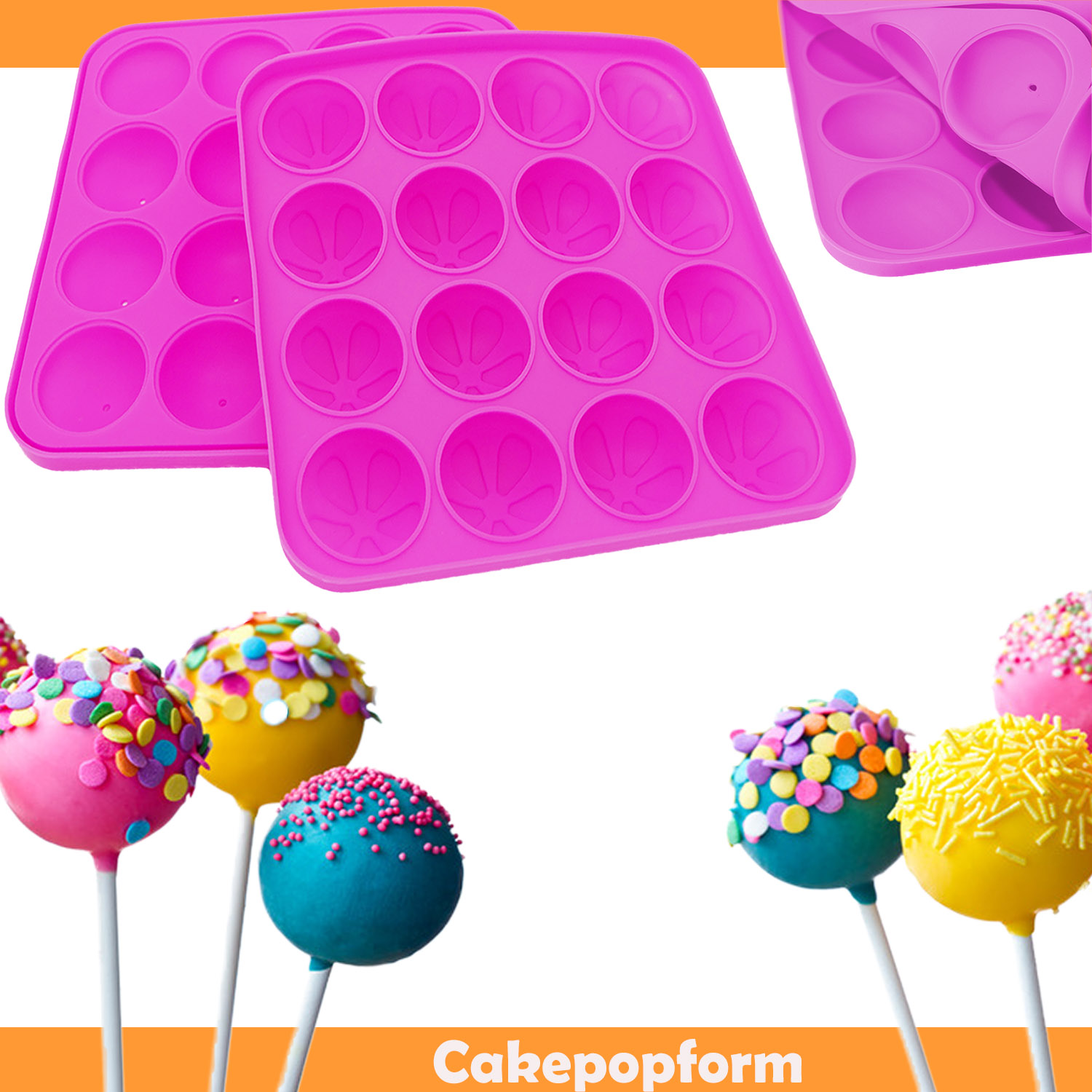 cake pop baker maker form backform silikonform kugel rund kuchen mini muffin ebay. Black Bedroom Furniture Sets. Home Design Ideas