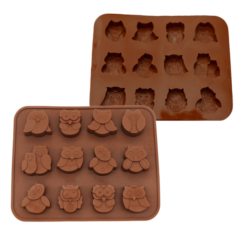 Silikon-Pralinenform-Schokoladenform-Backform-Hohlkoerper-Ausstecher-Fondant-set